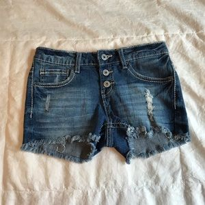 Cute Vanilla Star Denim Shorts